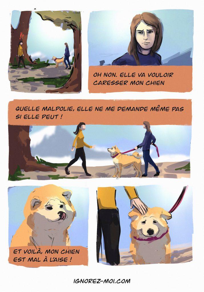 Je veux caresser un chien