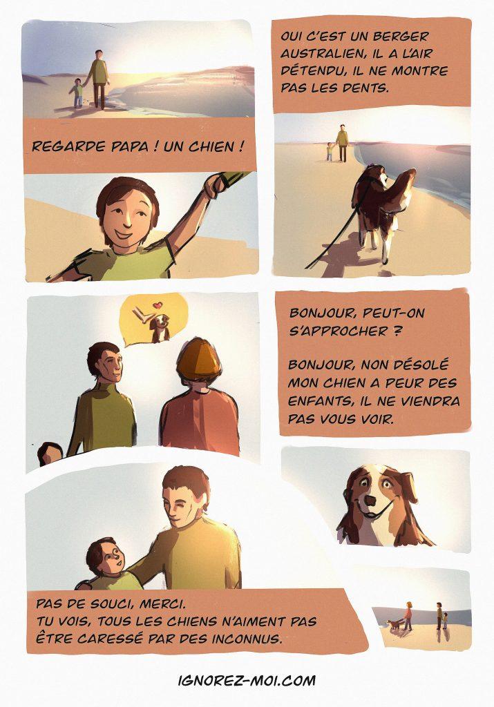 Comment enseigner à un enfant l'approche d'un chien