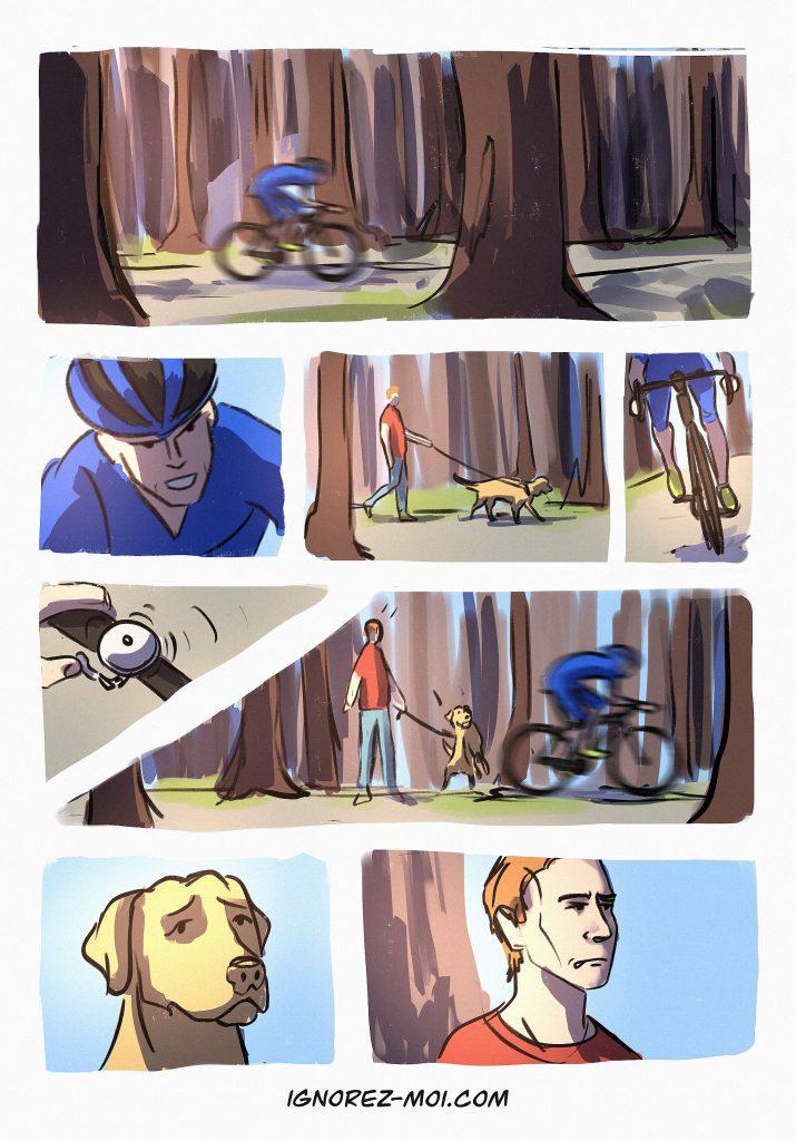 Ne pas faire vélo rencontre chien
